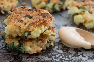 Crispy Cauliflower Carrot Fritters